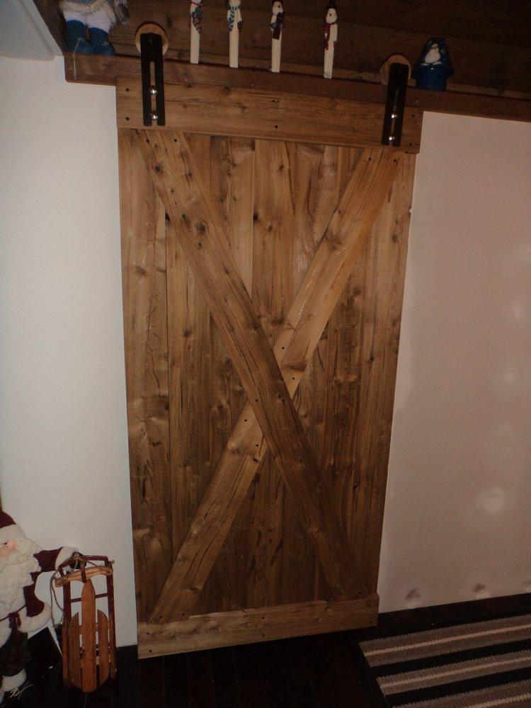 WeatherWood Brown Cracked Barn Door